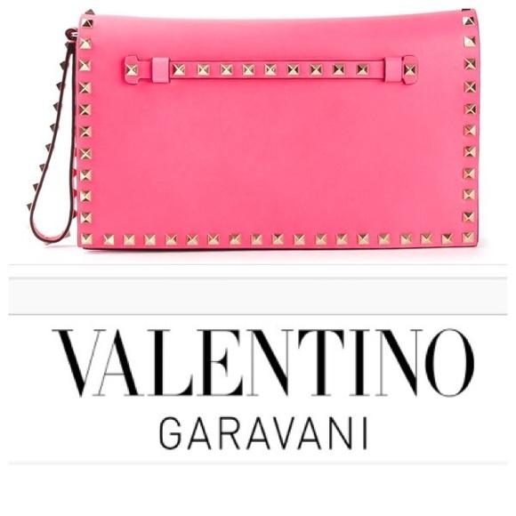 8b7546b5861 Valentino Garavani Bags   New Rockstud Flap Clutch   Poshmark